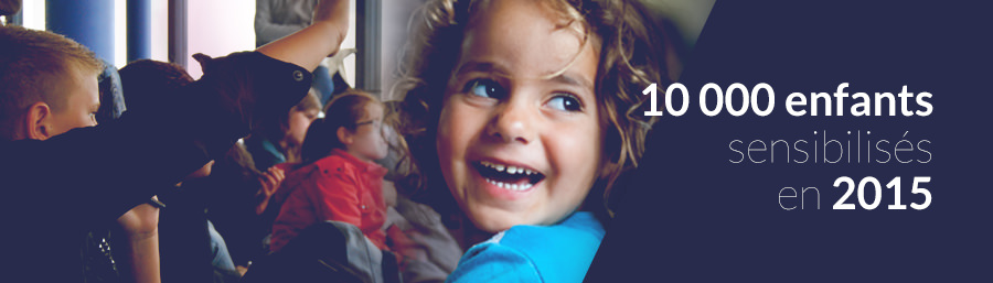 10 000 enfants sensibilisés en 2015 !