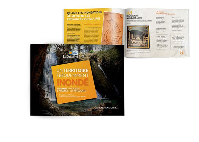 """© Projet du livret historique """"Un territoire fréquemment inondé"""" - Département du Var (83)"""