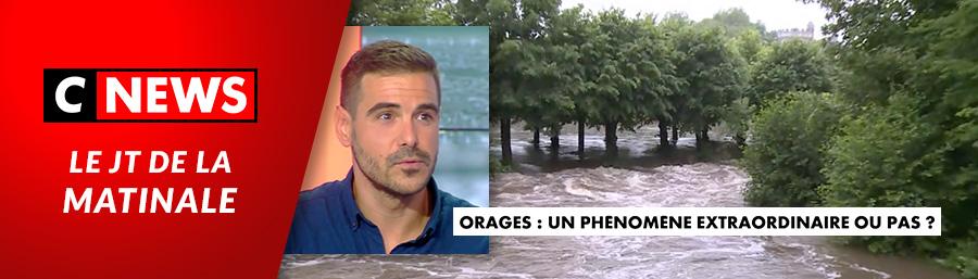 Bastien Mombellet, invité de C News – «Orages: un phénomène extraordinaire ou pas ?»