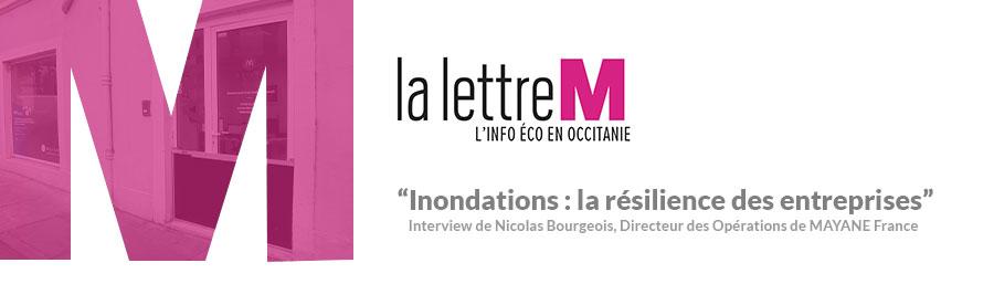 La Lettre M – «Inondations: la résilience des entreprises»