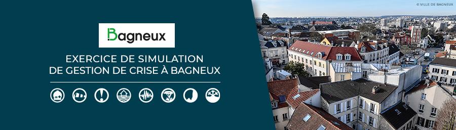 Exercice de simulation de gestion de crise à Bagneux