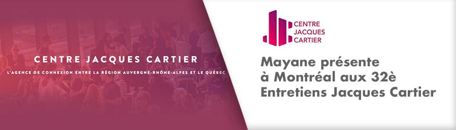 Mayane présente à Montréal aux 32è Entretiens Jacques Cartier