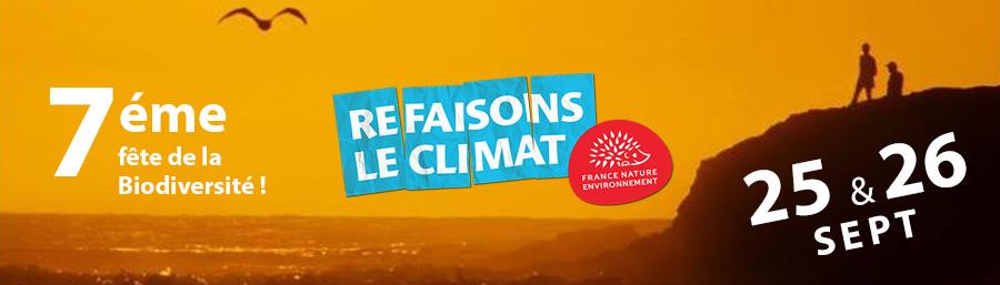 """Festival """"Refaisons le climat"""" les 25 et 26 septembre"""