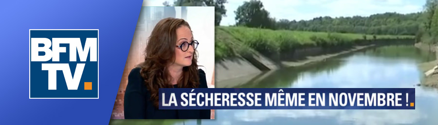 "23/11/17 : Emma Haziza invitée de BFM TV ""La sécheresse même en novembre !"""
