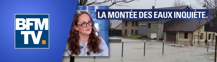 Emma Haziza invitée de BFM TV : La montée des eaux inquiète