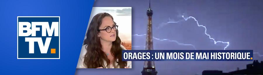 """Emma Haziza, invitée de BFM TV – """"Orages: un mois de mai historique"""""""