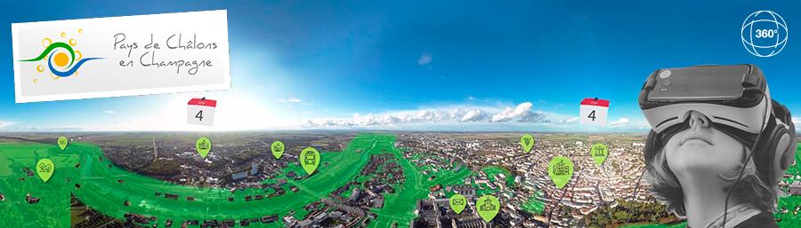 Pays de Châlons-en-Champagne, une vidéo 360° pour sensibiliser au risque inondation